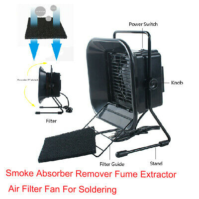Solder Smoke Absorber Remover Fume Extractor Air Filter Fan For Soldering 16W