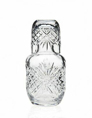 Dublin Crystal Bedside Night Carafe Tumbler Glass Water Guest Cup Jug Pitcher US