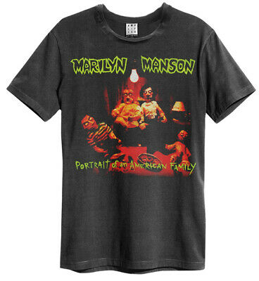 Marilyn Manson 'American Family' (Charcoal) T-Shirt - Amplified Clothing - NEW!