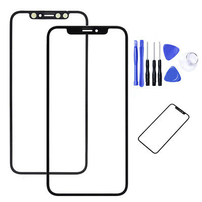 Black Front Outer Touch Screen Glass Replacement For iPhone X 10