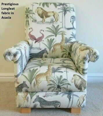 Kids Chair Children's Armchair Prestigious Longleat Acacia Fabric  Lions Animals