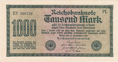 Germany (Imperial) 15.9.1922 1,000 Mark Pick#76b Uncirculated
