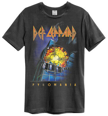 Def Leppard 'Pyromania' (Charcoal) T-Shirt - Amplified Clothing - NEW & OFFICIAL