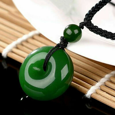 Jade Pendant Necklace Chinese Faux Yongshan Culture Safety Buckle Jewelry U  d26