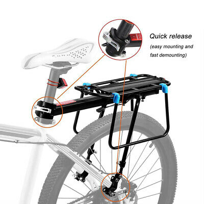 Bicycle Rear Rack Seat Luggage Holder Carrier Mountain Bike Cycle Mount Pannier