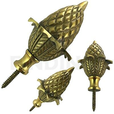 Brass ACORN ball spire finial grandfather clock watch tool 82mm high x 48mm wide