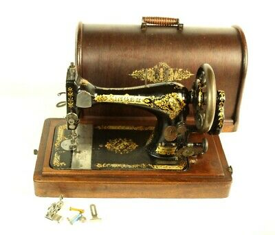 Antique Singer 28K Hand Crank Sewing Machine 19th C - FREE Shipping [5479]