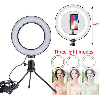 18CM Ring Fill Lamp with Tripod for Selfie Photography Live Camera Video Light