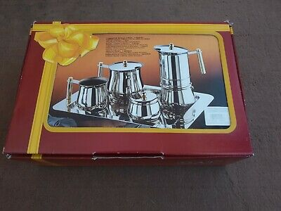 GAT Italy Amore 5 piece Stove Top Italian Espresso Coffee Maker Stainless Steel