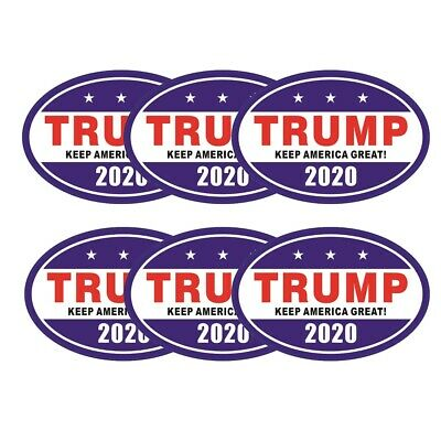 6x Donald Trump Magnet Sticker 2020 US Presidential Candidate Keep America Great