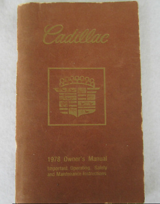 Cadillac 1978 Document  D'origine