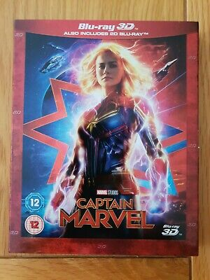Captain Marvel - 3D & 2D Blu-Ray Edition - Like New Condition