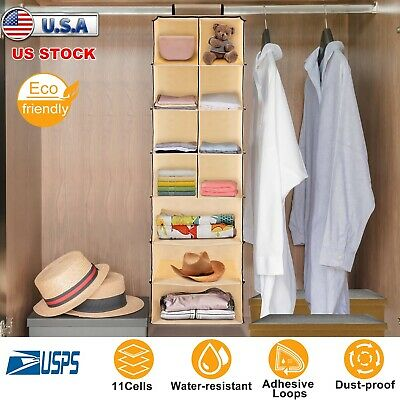 11 Cells Clothes Towels Socks Organizer Storage Rack Closet Hanging Wardrobe