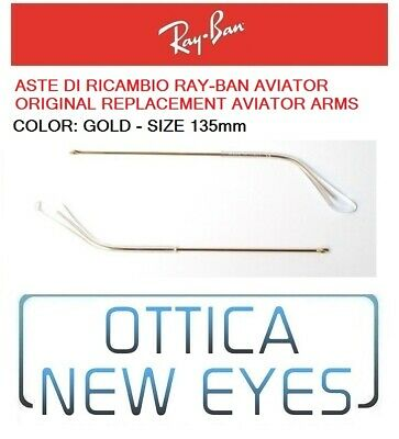 ASTE di Ricambio RAYBAN AVIATOR RB 3025 Ray Ban Replacement Arms gold 135mm