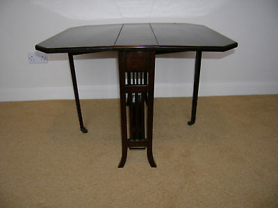 Antique Sutherland Small Gate Leg ,Drop Leaf ,Side ,Occasional Table
