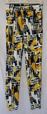 Girls Next Black Yellow White Soft Viscose Harem Hareem Trousers Age 13 Years