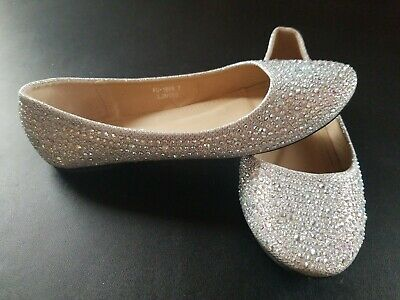 Lucita Girls Shoes Silver Shimmer Slip On  Heels Size 7