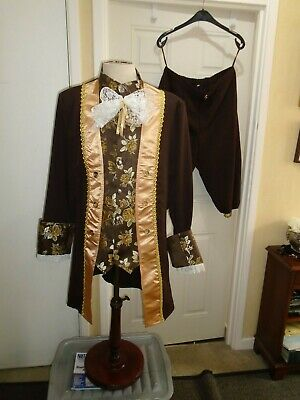 Georgian Man,s costume  brown   chest 41 inches  size theatre