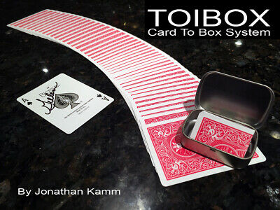 Toibox Card To Box System by Jonathan Kamm card mentalism impossible magic