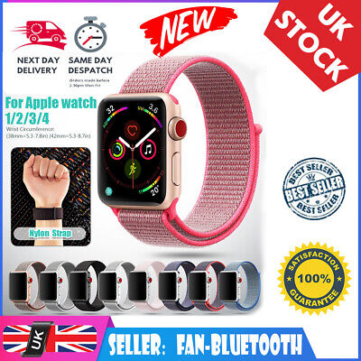 Woven Nylon Sport Loop Band Strap Bracelet For iWatch Apple Watch Series 4 3 2 1
