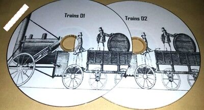 Trains Railway History in 100 pdf ebooks on 2 discs to read on PC and Laptops