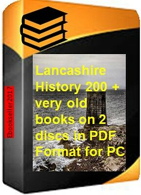 ebooks, 200 of Lancashire history and genealogy in pdf ebooks, files on 2 discs