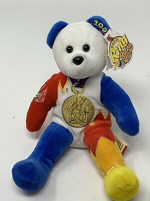Team Beans USA Olympic Ring Bear 2000 Gold Medal Bear 39 Won Stuffed Animal Toy