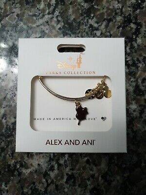 Disney Parks Alex And Ani Mickey Mouse Ice Cream Bar Gold Bangle Bracelet