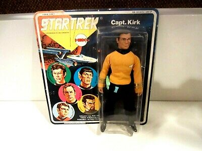 Mego Star Trek Kirk 5 Face 1St Issue 1974 Mint On Card- Unpunched - Beauty