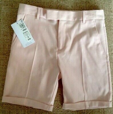 Brand New Girls Smart Pink Shorts By Marks & Spencer Age 9-10 Years Rrp £16
