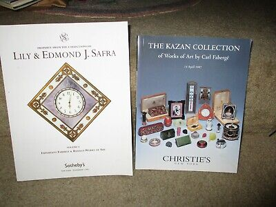 The Safra Collection of Faberge Sothebys 2005 and the Kazan Collection Chrisitie