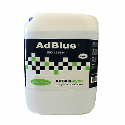GreenChem AdBlue Universal Ad Blue 20L 20 Litre with Free Filling Pouring Spout