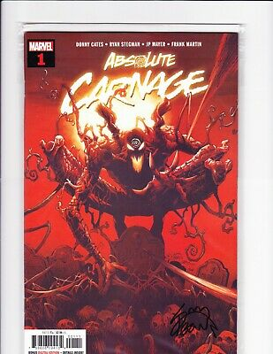 Absolute Carnage #1 NM+ Signed by artist Ryan Stegman with COA