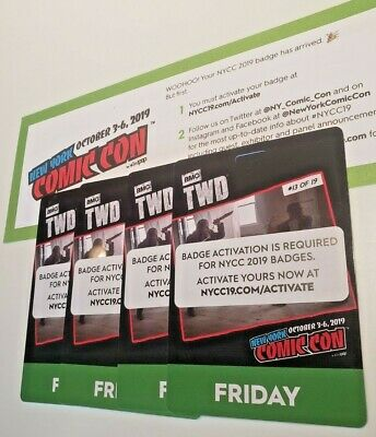 NYCC 2019 FRIDAY New York Comic Con Pass NYC Badge Ticket Jacob - Fan Verified
