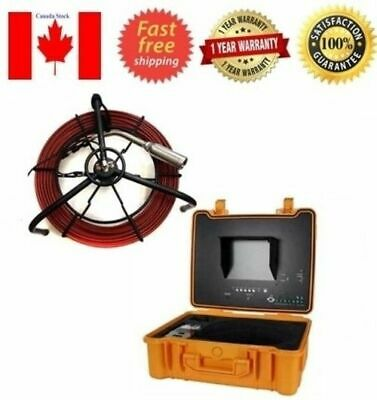 """Sewer Drain Pipe 1-1/2"""" Self Leveling Camera 512HZ Sonde Transmitter 200Ft Cable"""