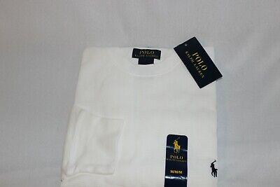 Polo Ralph Lauren Mens 100% Cotton T-Shirt Thermal Long Sleeve Crew Neck NWT