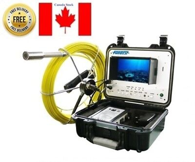 """Sewer Drain Pipe Cleaner Machine Inspection Video Snake Camera 40M Cable  7"""" LCD"""