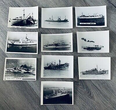 (10) Wwii Ww2 Us Navy Naval Ships Sailors Pacific Vintage Vtg Postcard Photo Lot