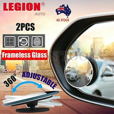 2pcs Car Rear Side view Blind Spot Mirror Convex Wide Angle Car round glass 2""