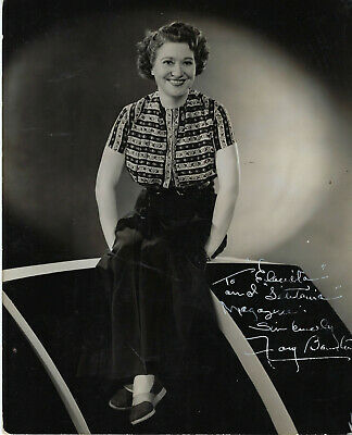Oscar Winner Stage & Movie Actress Fay Bainter , Autographed Vintage Studio Hoto