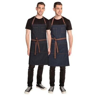 Bib Apron Denim Chefworks Memphis Urban Contemporary Barista Bar Black OR Blue