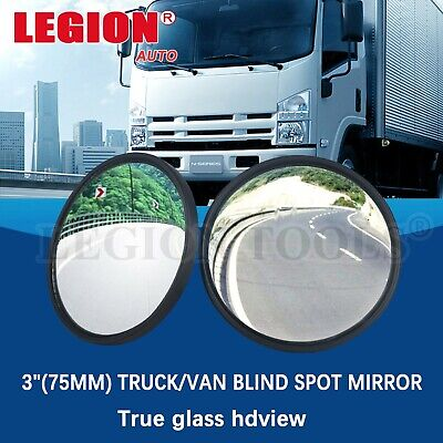 "Blind Spot Mirror Large Car Van Truck Bus Rear View Convex Wide Angle 3"" 75mm"