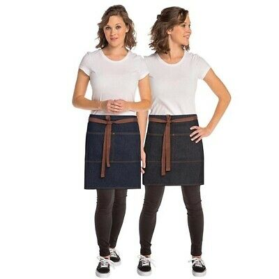 Half Apron Denim Chefworks Memphis Urban Contemporary Barista Bar Black OR Blue