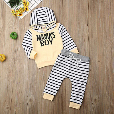 Toddler Kids Baby Boy Letter Tracksuit Pullover Top+Pants Clothes Outfits Set US