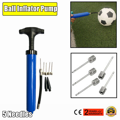 Portable Football Basketball Inflator Inflating Air Hand Needle New Filling U0L5