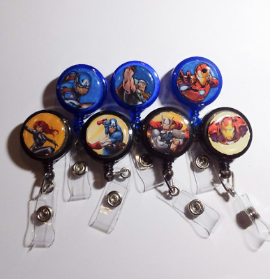Lot of 4 Badge Reels - Marvel, Peanuts, Minions, TMNT, Toy Story and More!