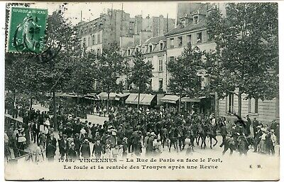 CPA - Carte Postale - France - Vincennes - La Rue de Paris - 1910 (I9900)