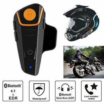 1000M Bluetooth 4.1 Étanche Sans Fil Interphone Casque de Moto Headset