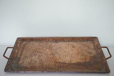 Arts & Crafts Riveted & Hammered Copper Tray - John Pearson - c.1900