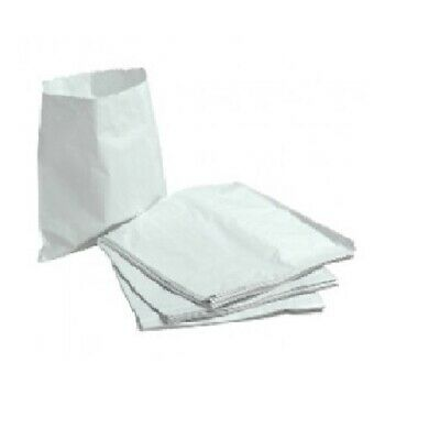 "1000 x 10x10"" WHITE PAPER BAGS Sandwiches Packed Lunch Fruit Party Market Stall"